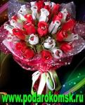 0.1.2)Букет роз с конфетами (D=39см)