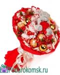 0.8.3)Новогодний букет из конфет(d=25см)