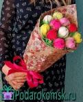 """01)Букет """"Тюльпаны"""" из конфет(h=60см)"""